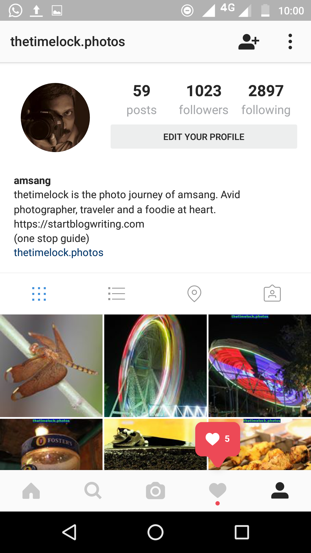 profile instagram