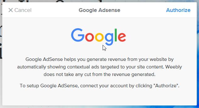 google adsense integration